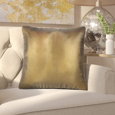 Maliah Solid Throw Pillow Color: Yellow/Brown