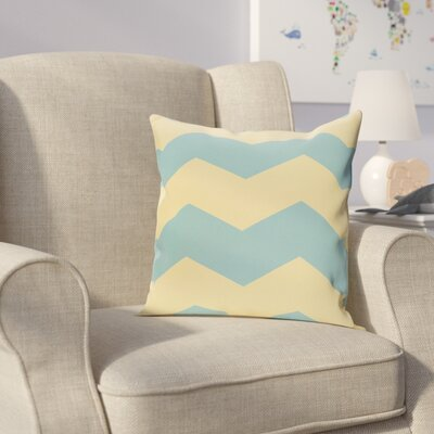 Milo Throw Pillow Size: 26 H x 26 W, Color: Bahama / Lemon