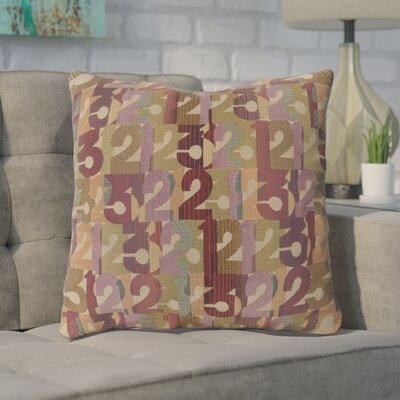 Detweiler Linen Throw Pillow Size: 18 H x 18 W x 4 D, Color: Violet, Filler: Down
