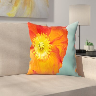 Maja Hrnjak Poppy Flower 4 Throw Pillow Size: 16 x 16