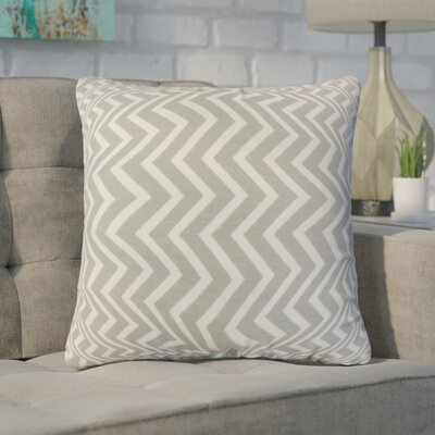 Witter Zigzag Cotton Throw Pillow Color: Light Gray