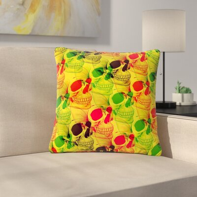 Roberlan Skullfest Outdoor Throw Pillow Size: 18 H x 18 W x 5 D