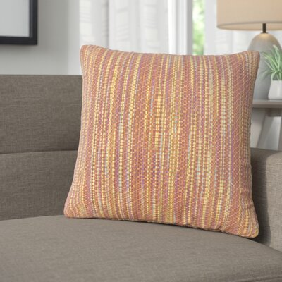 Avah Stripes Throw Pillow Color: Fiest