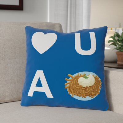 Heart U A Latke Throw Pillow Size: 16 x 16