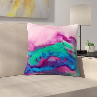 Ebi Emporium Winter Waves 2 Watercolor Outdoor Throw Pillow Size: 18 H x 18 W x 5 D