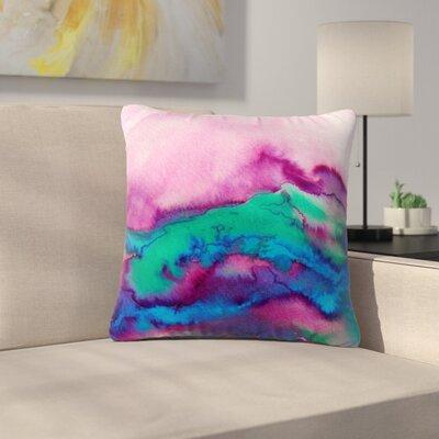 Ebi Emporium Winter Waves 2 Watercolor Outdoor Throw Pillow Size: 16 H x 16 W x 5 D