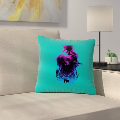 BarmalisiRTB Forest Queen People Outdoor Throw Pillow Size: 18 H x 18 W x 5 D