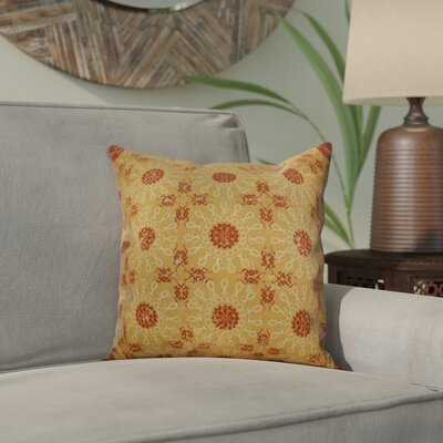 Clarence Geometric Outdoor Throw Pillow Size: 16 H x 16 W x 2 D, Color: Gold