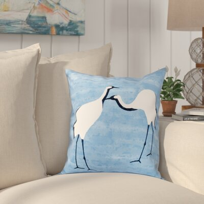 Boubacar Stilts Animal Print Throw Pillow Size: 16 H x 16 W, Color: Blue