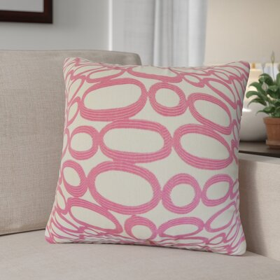 Penshire Geometric Throw Pillow Cover Color: Bubblegum