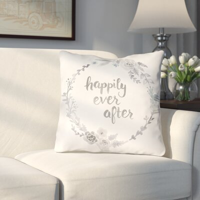 Lyle Indoor/Outdoor Throw Pillow Size: 18 H x 18 W x 4 D, Color: Gray/Beige