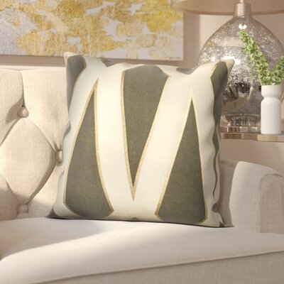 Farrell Throw Pillow Color: Gray