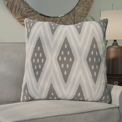 Sabrina Geometric Print Outdoor Pillow Color: Steel Gray, Size: 18 H x 18 W x 1 D