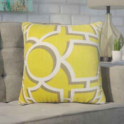 Zaira Geometric Cotton Throw Pillow Color: Yellow