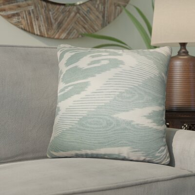 Delano Ikat Linen Throw Pillow Color: Artemesia, Size: 24 x 24