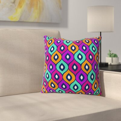Throw Pillow Size: 16 H x 16 W x 4 D, Color: Purple