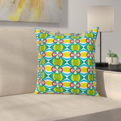 Modern Graphic Print Pillow Cover with Zipper Size: 24 x 24