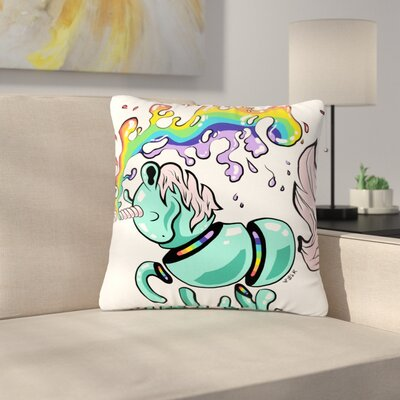 Anya Volk Gummy Unicorn Outdoor Throw Pillow Size: 18 H x 18 W x 5 D