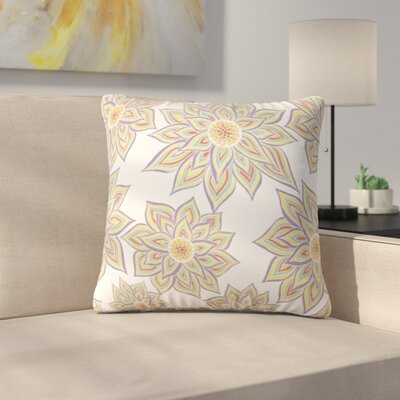 Floral Dance by Pom Graphic Design Outdoor Throw Pillow Color: White