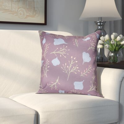 Orchard Lane Spring Floral Throw Pillow Size: 20 H x 20 W, Color: Purple