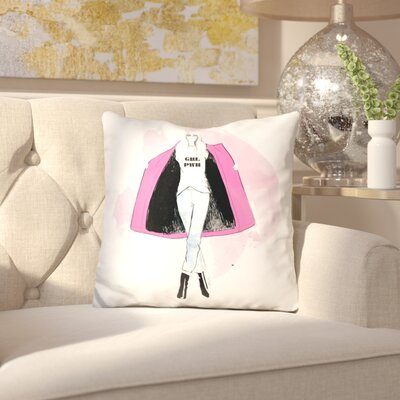 Emely Girl Power Throw Pillow