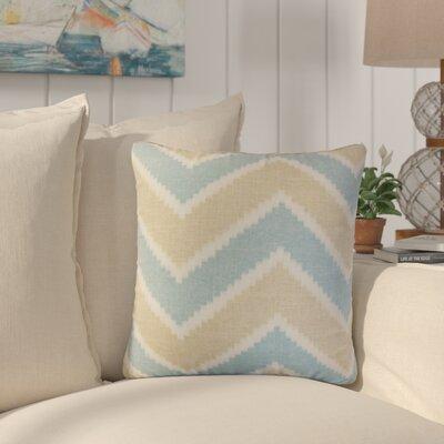 Simonton Zigzag Linen Throw Pillow Color: Tan