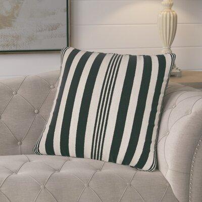 Gladiola Cotton Throw Pillow Color: Black