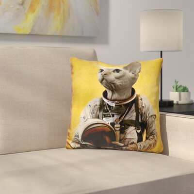 Proud Astronaut Throw Pillow