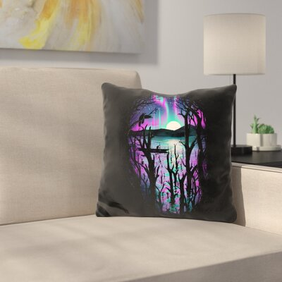 Night with Aurora Throw Pillow