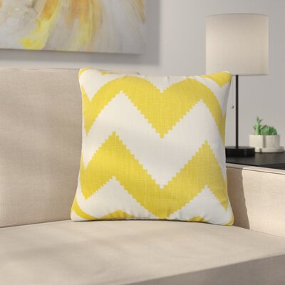 Svendsen Zigzag Linen Throw Pillow Color: Yellow