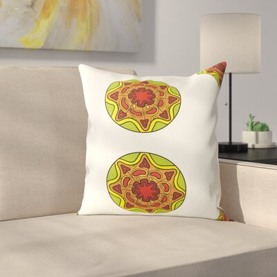Medallion 100% Cotton Throw Pillow