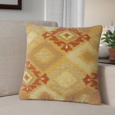 Calina Ikat Down Filled Throw Pillow Size: 18 x 18