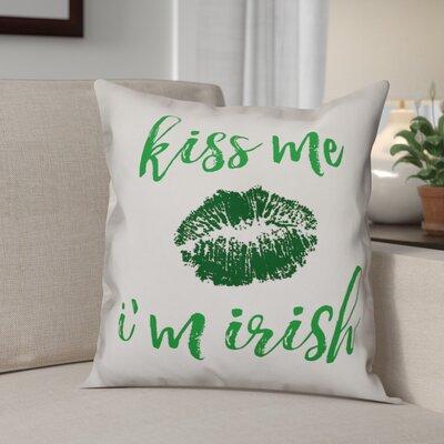 Benites Kiss Me Im Irish Throw Pillow