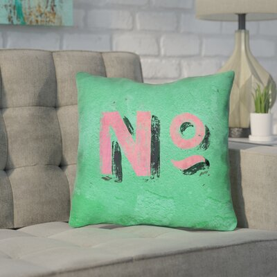 Enciso Graphic Wall Outdoor Throw Pillow Size: 16 x 16, Color: Green/Pink
