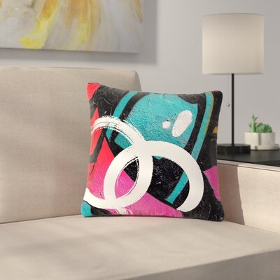 Just L Channel Zero Illustration Outdoor Throw Pillow Size: 16 H x 16 W x 5 D