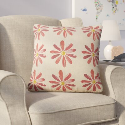 Christy Flowers Throw Pillow Color: Red