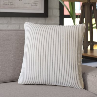 Jaishri Striped Down Filled 100% Cotton Throw Pillow Size: 18 x 18, Color: Black