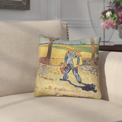 Zamora Self Portrait Square Zipper Throw Pillow Size: 16 x 16