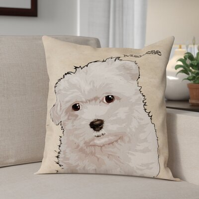 Crispin Maltese Throw Pillow
