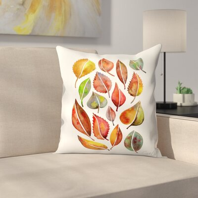 Fall Leaves Throw Pillow Size: 16 x 16