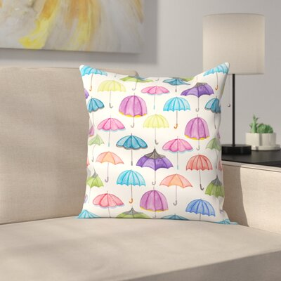 Elena ONeill Umbrellas Throw Pillow Size: 18 x 18