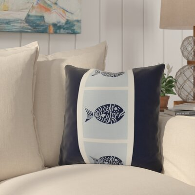 Bartow Fish Chips Throw Pillow Size: 20 H x 20 W x 3 D, Color: Navy Blue