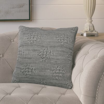 Carmine Knit 100% Cotton Throw Pillow