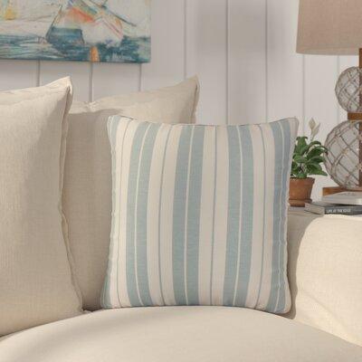 Capri Stripes Cotton Throw Pillow Color: Sea