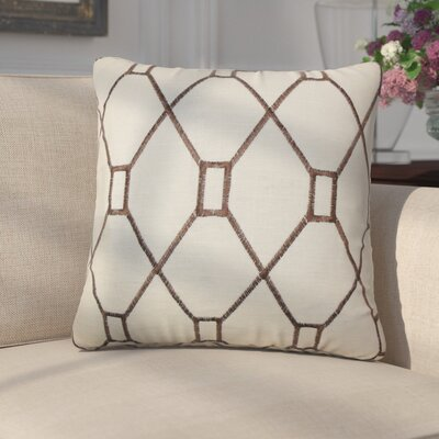 Marcello Geometric Cotton Throw Pillow Color: Brown
