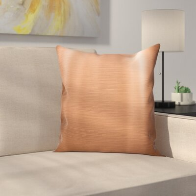 Brushed Plate Square Pillow Cover Size: 20 x 20