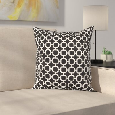 Burville Indoor/Outdoor Polyester Throw Pillow Color: Black/ White