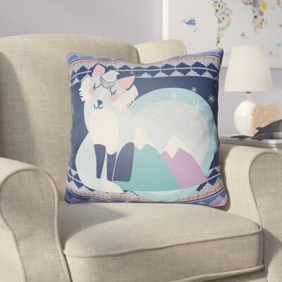 Colinda Fox Throw Pillow Size: 18 H x 18 W x 4 D, Color: Dark Blue