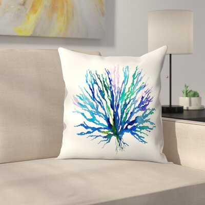 Coral 1 Throw Pillow Size: 14 x 14