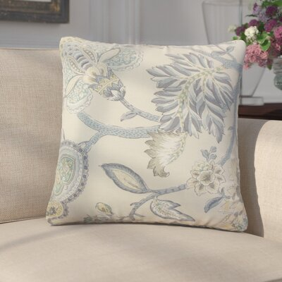 Ghita Floral Linen Throw Pillow Color: Stone
